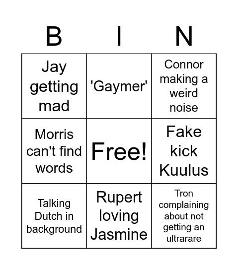 Purp bingo Card