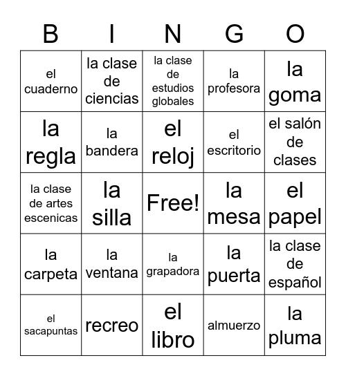 Bingo- La Escuela Bingo Card