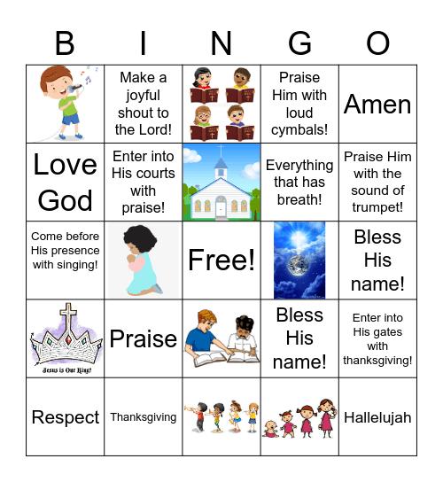 What is worship?? BINGO Card