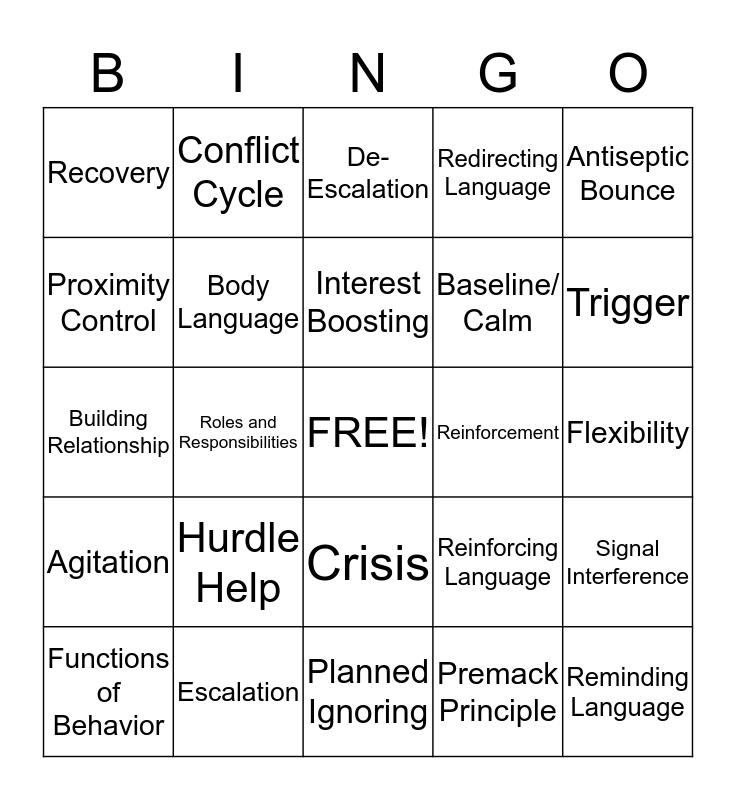 Let's Review Bingo Card