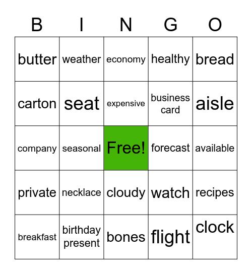 Listen Practice Bingo Card