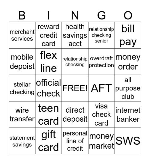 SUSQUEHANNA BANK Bingo Card