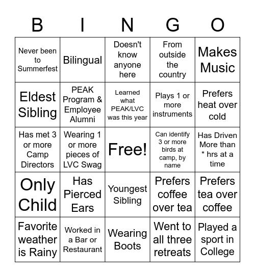 Get-To-Kno-U BINGO LVC Edition Bingo Card