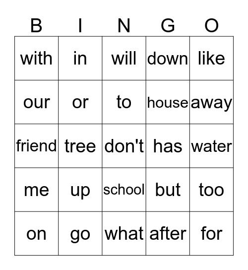 Unit 10 reading words Bingo Card