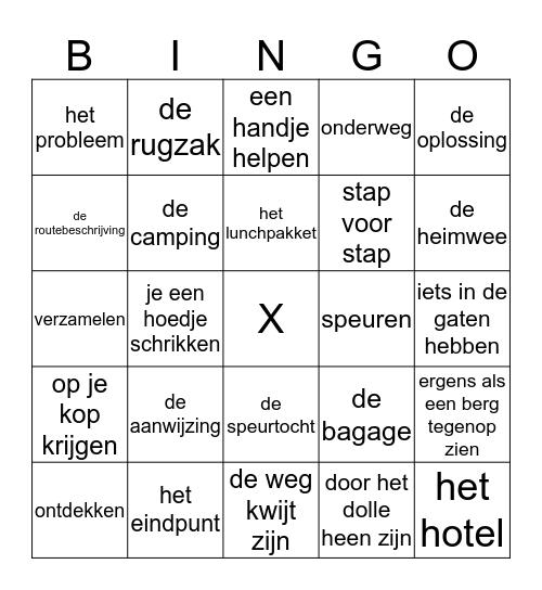 thema 8 Op reis Bingo Card