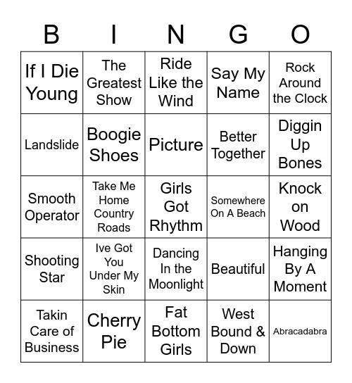 Music Bingo 55 Bingo Card