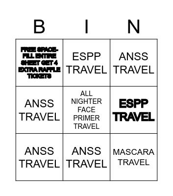 SALON Bingo Card