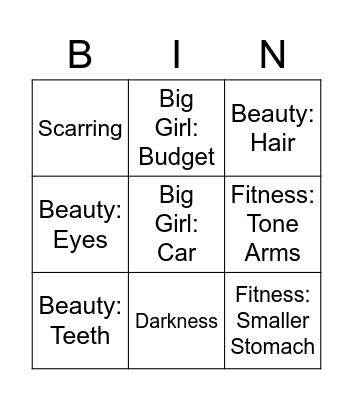 Bingo 2021 Pt 2 Bingo Card