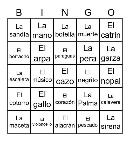 Lotería Mexicana Bingo Card