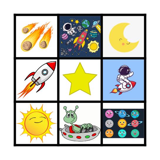 Space Bingo! Bingo Card
