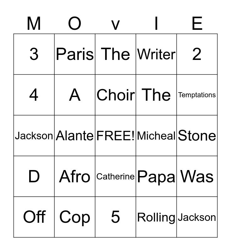 ALANTE JACKSON Bingo Card