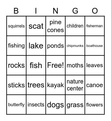 Piney Run Bingo Card