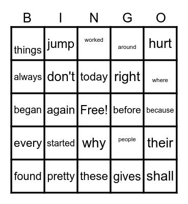 DAISY GROUP Bingo Card