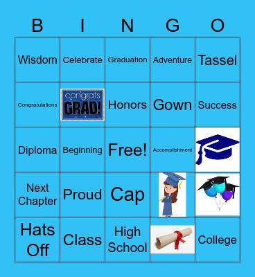 AIM Graduation Party Bingo Card