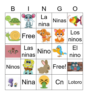 FELLINGS AND EMOTIONS Bingo Card
