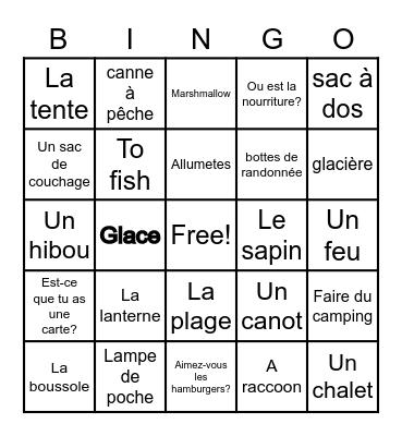 Le camping Bingo Card