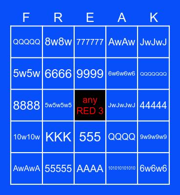 Bingo-Nasta Bingo Card