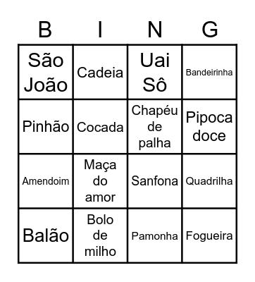 Festa Junina Bingo Card