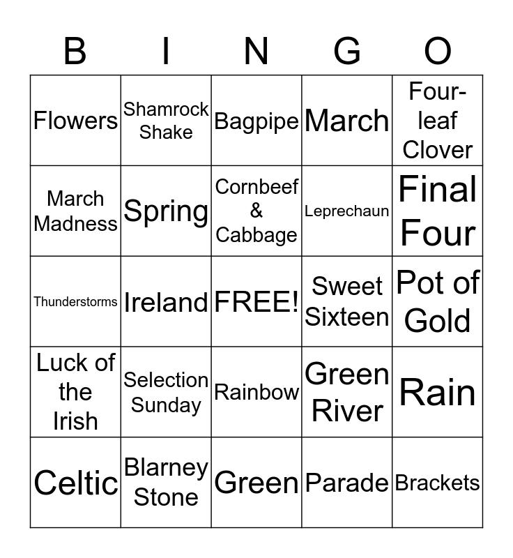 March Bingo Card