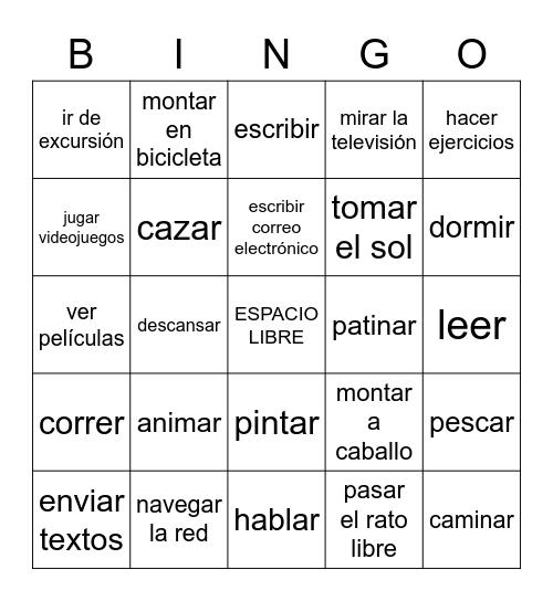 Los pasatiempos Bingo Card