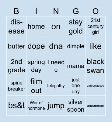 @lunarlxtte Bingo Card