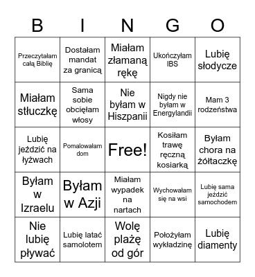 55. Urodziny Beaty Bingo Card
