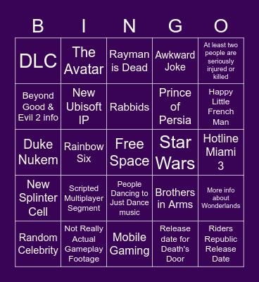 E3 Day 1 (Ubisoft, Devolver, Gearbox) Bingo Card