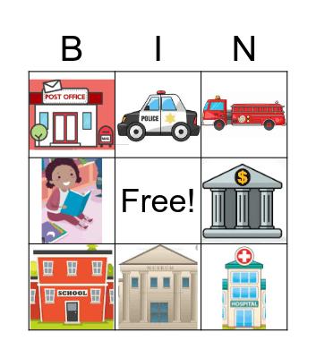 places Bingo Card
