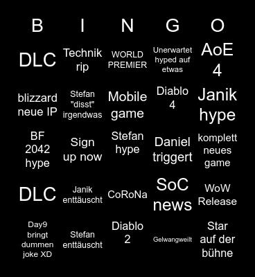 E3 Uga bingo Card