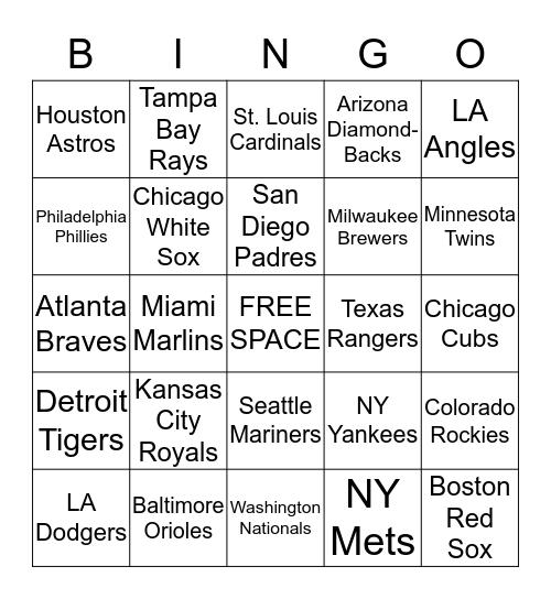 Take Me Out to the Ball Game Bingo Card