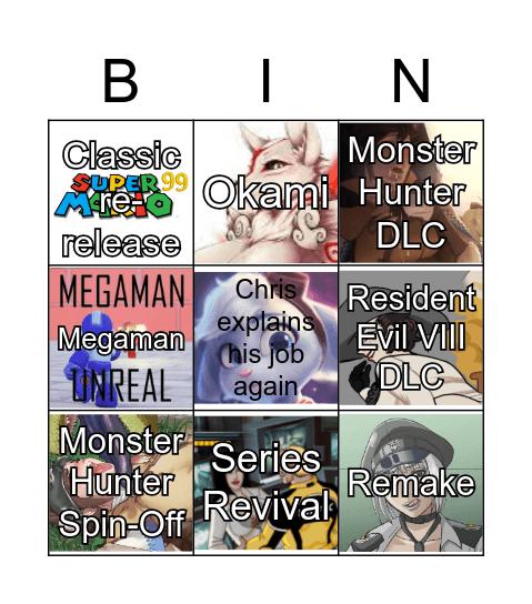 Capcom 2021 Bingo Card