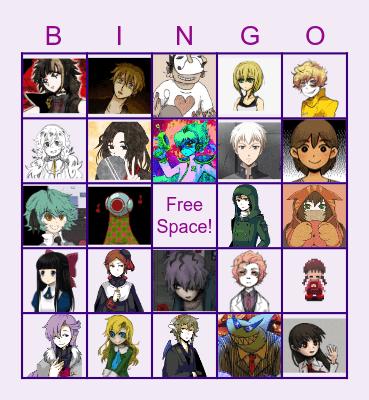 Fave. RPG Horror Charas! Bingo Card