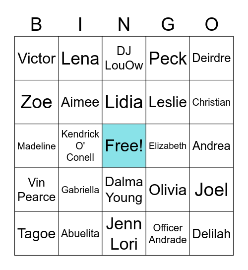 They Both Die At The End Bingo Card