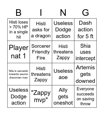 Dorgobolds Fight Bingo Card