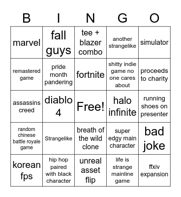 june 13 Bingo Card