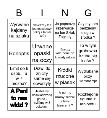 Praca w Open The Lock Gliwice Bingo Card