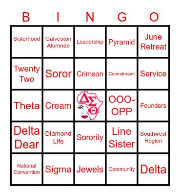 GAC Bingo Card
