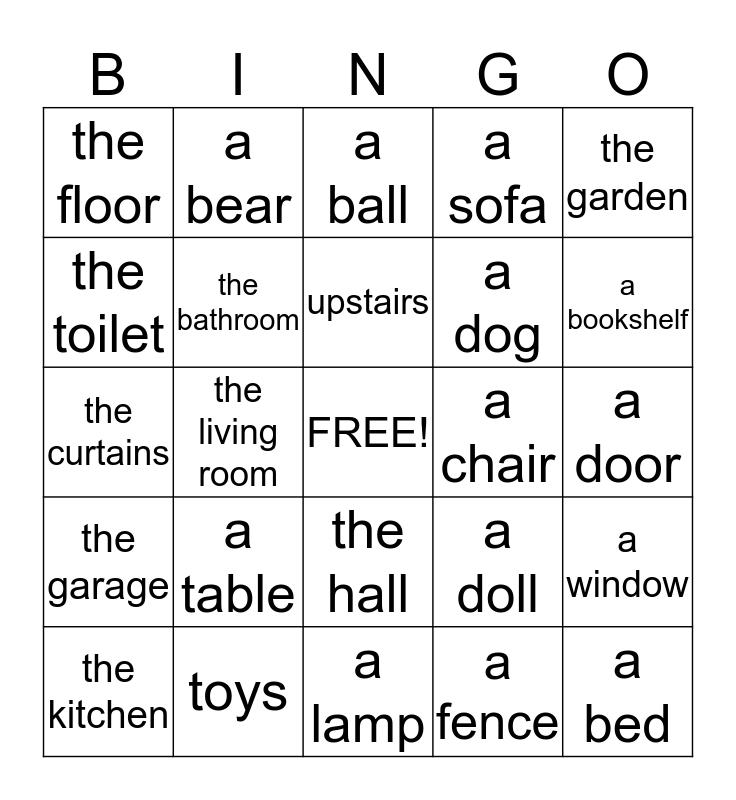 The house Bingo Card