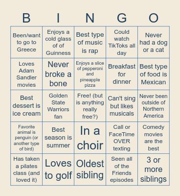 Happy Hour: New Hire Edition Bingo Card