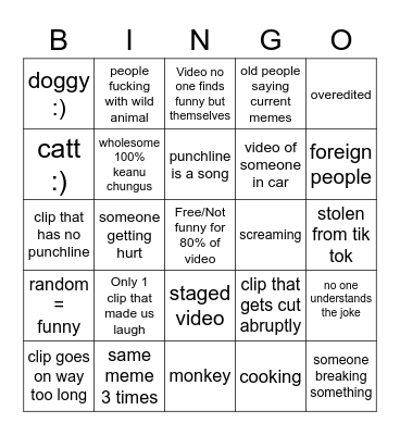 neat Bingo Card