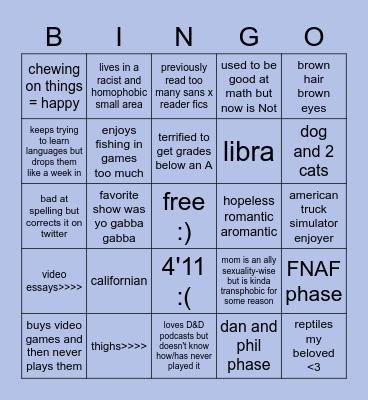 me bingo smile Bingo Card