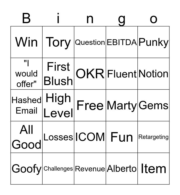 Q Interactive Bingo Card