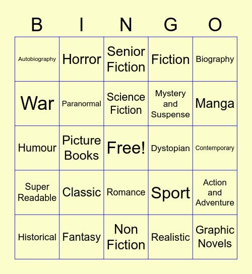 Know Your Genre Bingo Card