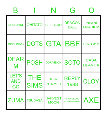 JAEHYUN Bingo Card