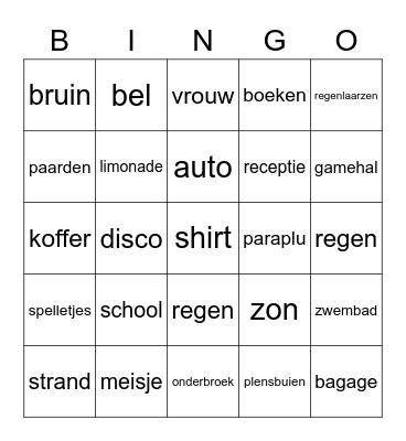 Superheld Bingo Card