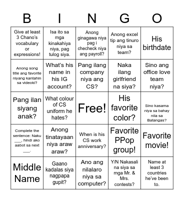 All About Christian Bingo Card