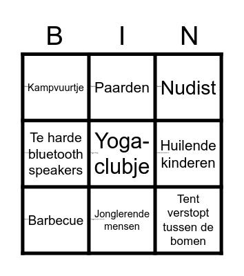 Waalstrand Bingo Card