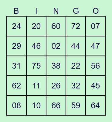 by ST96HANI Bingo Card