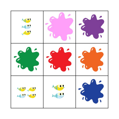 COLOURS AND NUMBERS Bingo Card