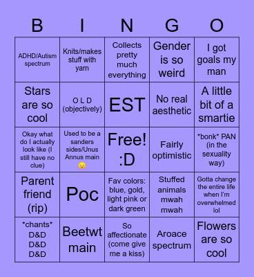 Me Bingo Card